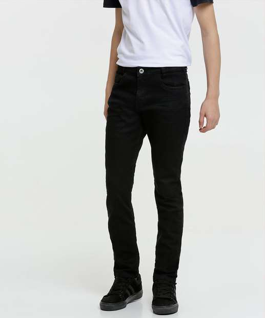 Image_Calça Juvenil Jeans Skinny Bolsos
