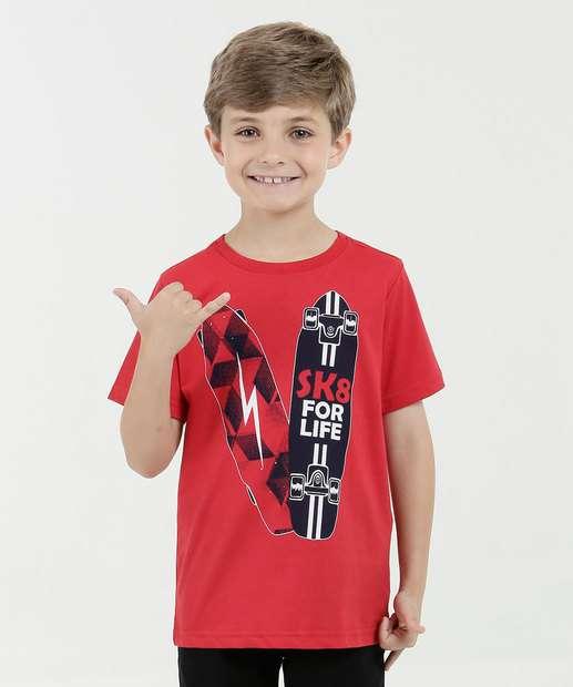 Image_Camiseta Infantil Estampa Frontal Manga Curta Marisa