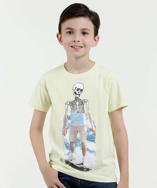 Image_Camiseta Infantil Estampa Caveira Manga Curta Marisa