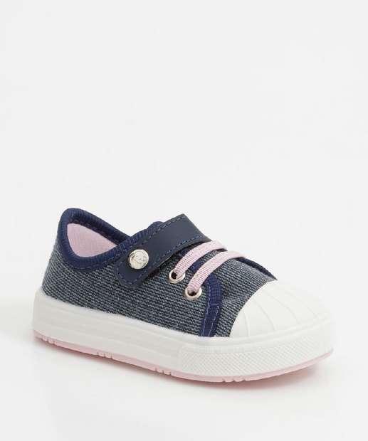 Image_Tênis Infantil Casual Jeans Velcro Pimpolho