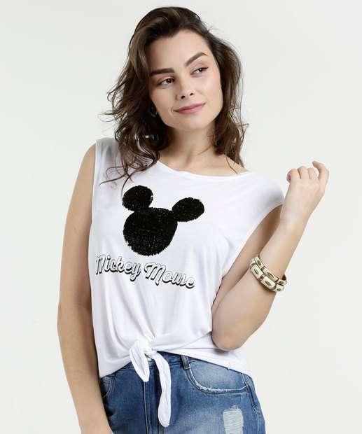 Image_Regata Feminina Paetê Estampa Mickey Disney