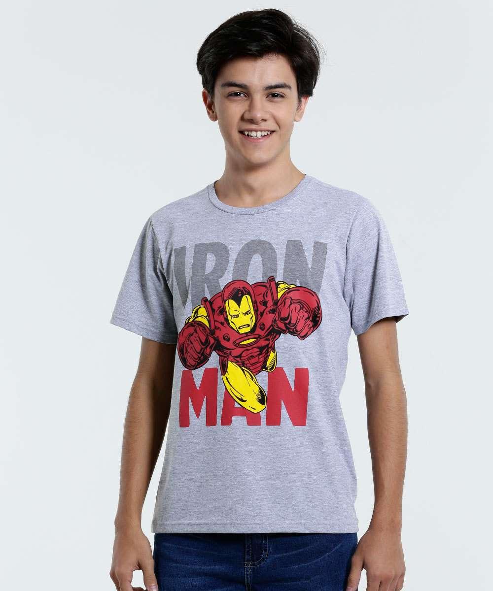 d6ac5fbf1f Menor preço em Camiseta Juvenil Manga Curta Homem de Ferro Marvel