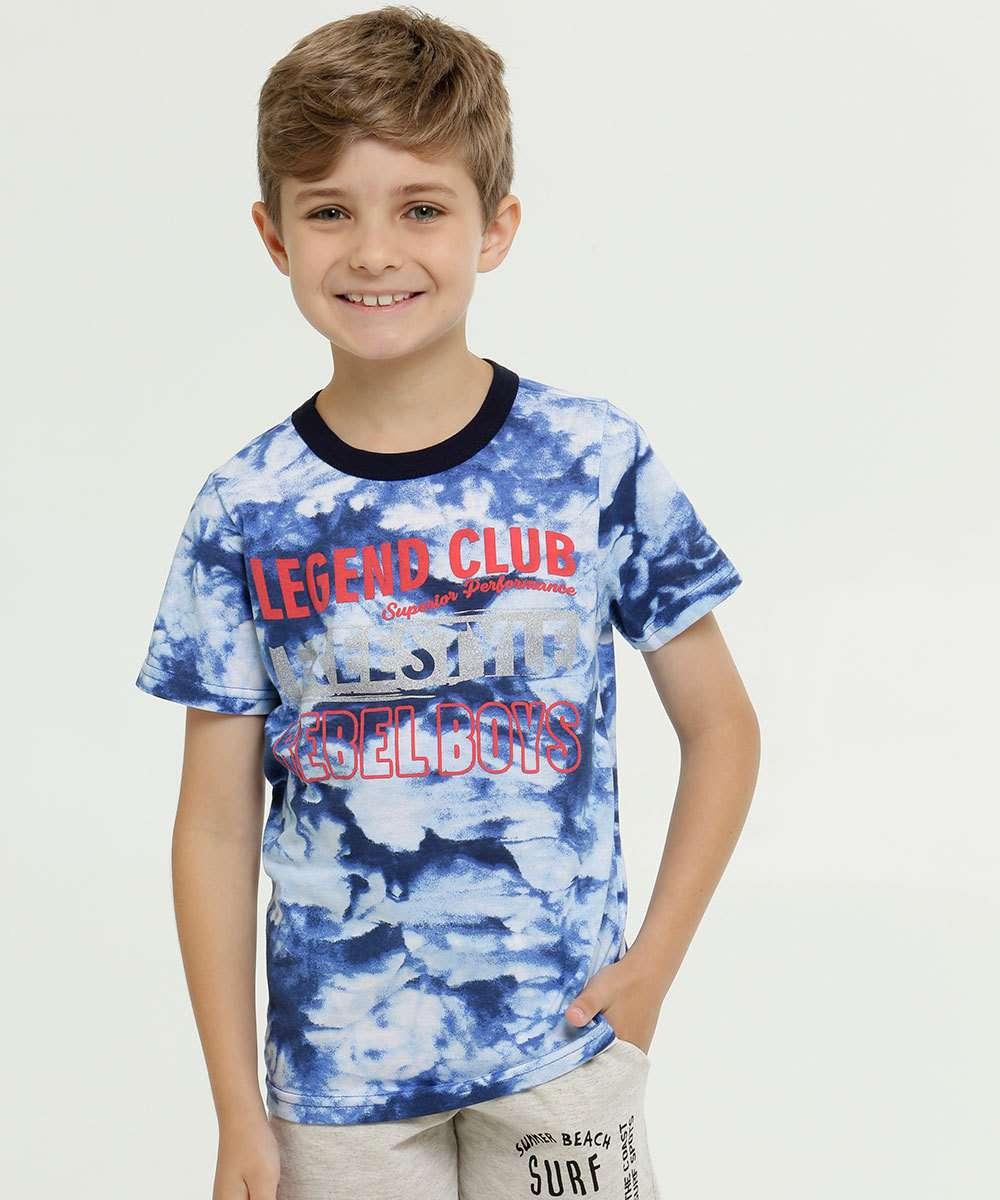 Camiseta Infantil Estampa Tie Dye Manga Curta
