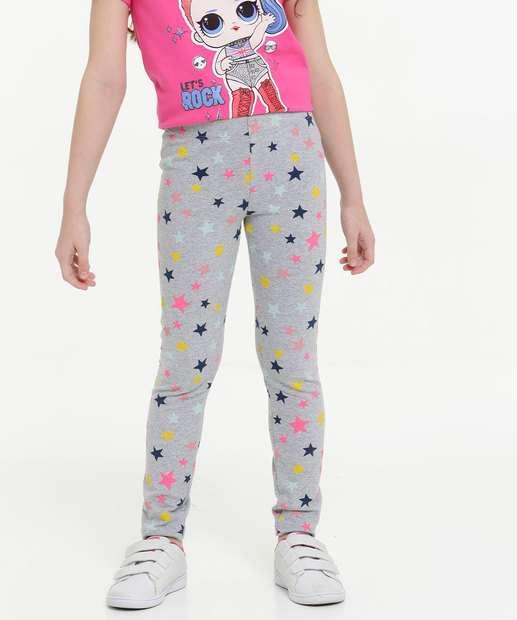 Image_Calça Infantil Legging Estampa Estrelas Tam 4 a 10