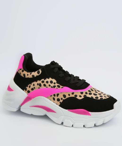 Image_Tênis Feminino Chunky Sneaker Animal Print Neon Zatz
