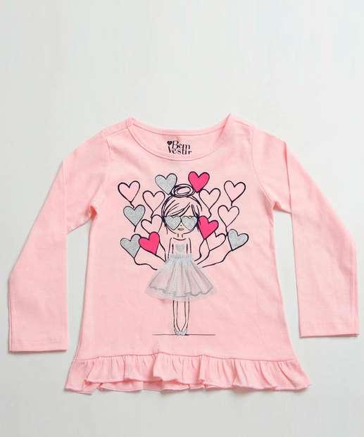 Image_Blusa Infantil Estampa Bailarina Manga Longa