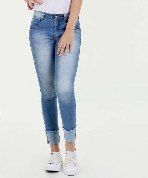Image_Calça Feminina Jeans Cigarrete Puídos Biotipo