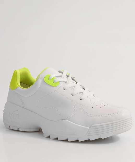 Image_Tênis Feminino Sneaker Tratorado Neon Via Marte