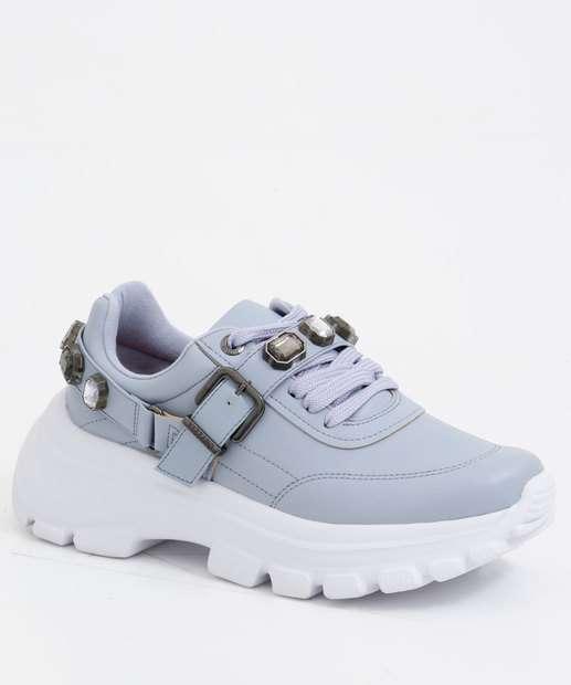 Image_Tênis Feminino Chunky Sneaker Pedraria Vizzano