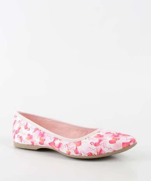 Image_Sapatilha Infantil Estampa Flamingo Bico Fino Pink Cats