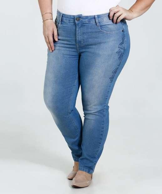 Image_Calça Feminina Jeans Bordado Plus Size Marisa