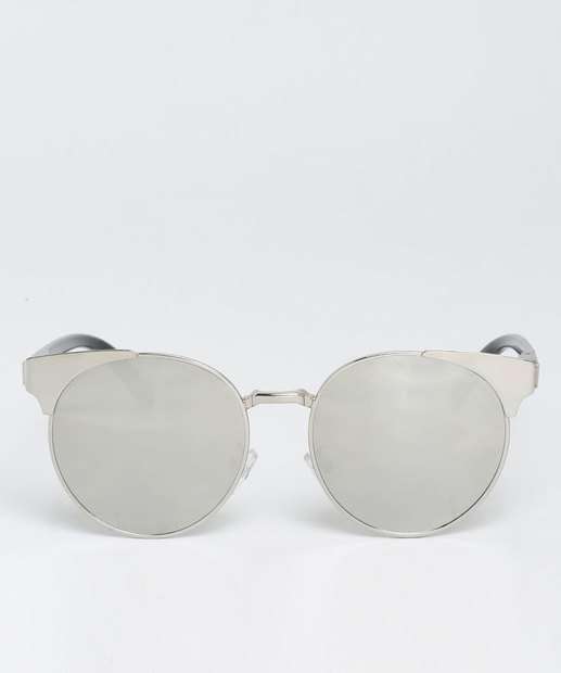 Image_Óculos de Sol Feminino Gateado Metalizado Marisa