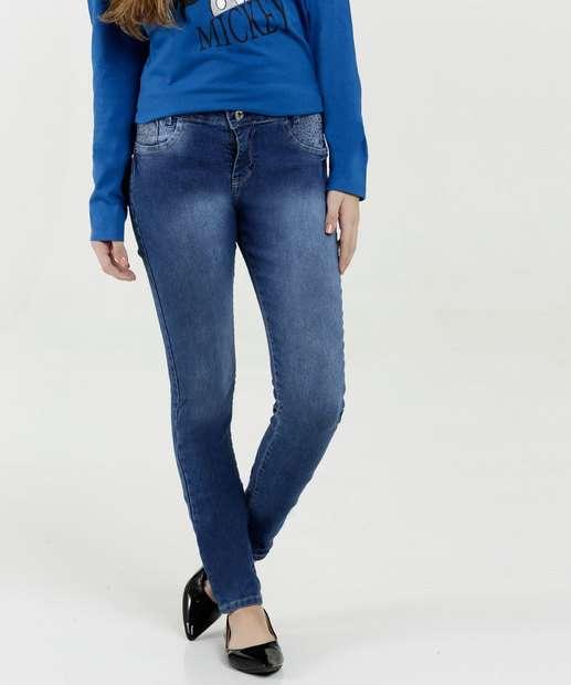Image_Calça Juvenil Jeans Skinny Strass