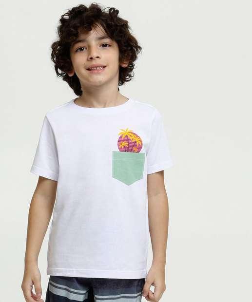 Image_Camiseta Infantil Estampa Coqueiros Manga Curta MR