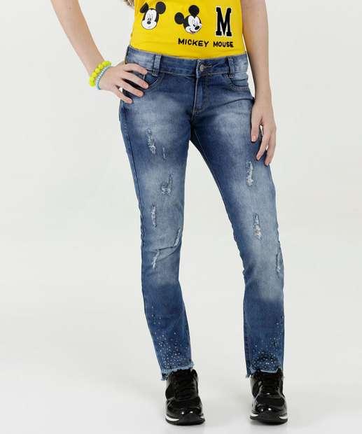 Image_Calça Juvenil Jeans Strass