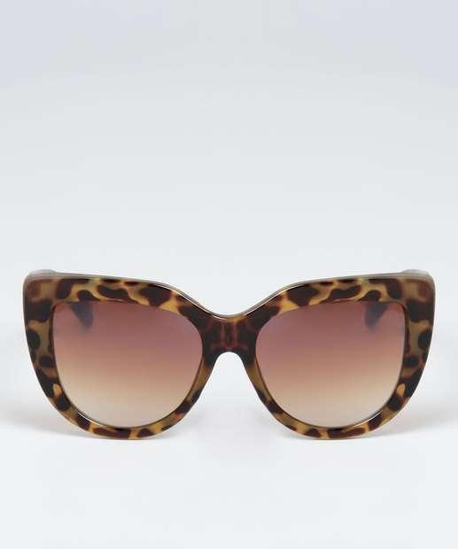 Image_Óculos de Sol Feminino Gateado Estampa Animal Print Marisa