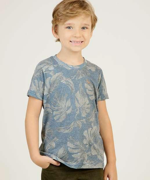 Image_Camiseta Infantil Estampa Folhas Manga Curta Yacht Master  Tam 4 a 10