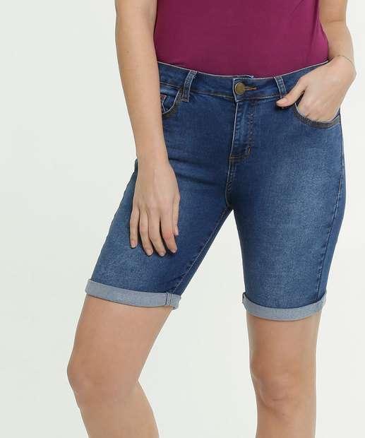 Image_Bermuda Jeans Feminina Barra Dobrada Marisa