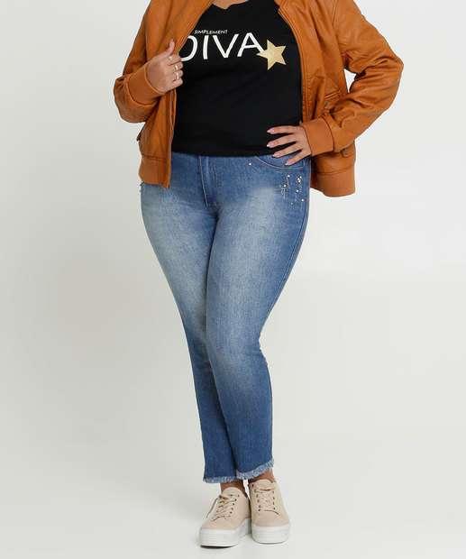 Image_Calça Jeans Feminina Skinny Strass Plus Size Biotipo