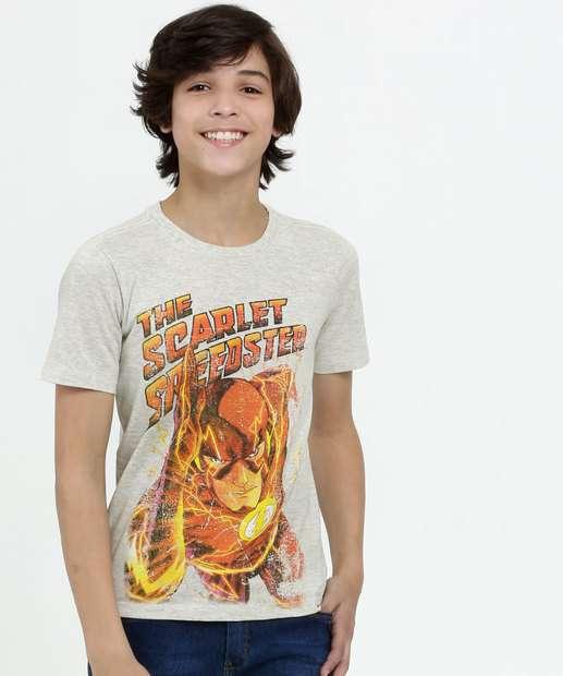 Image_Camiseta Juvenil Estampa Flash Manga Curta Liga da Justiça