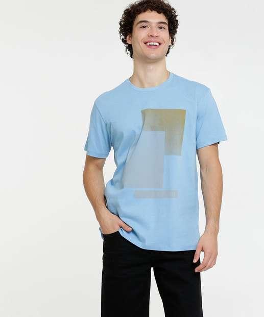 Image_Camiseta Masculina Estampa Geométrica Costa Rica