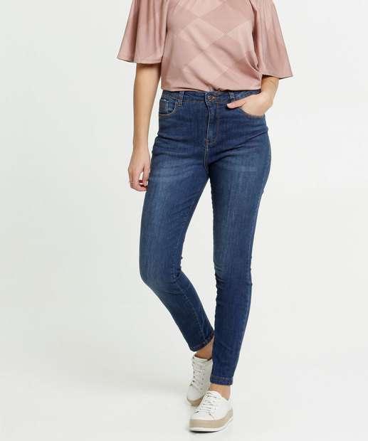 Image_Calça Jeans Skinny Feminina Bolsos Razon