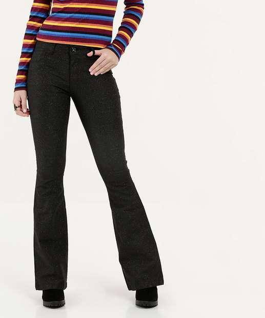 Image_Calça Feminina Jeans Glitter Stretch Flare Biotipo