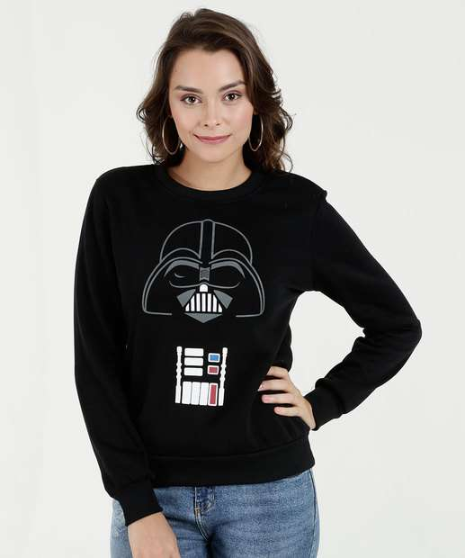 Image_Blusão Feminino Moletom Estampa Darth Vader Disney
