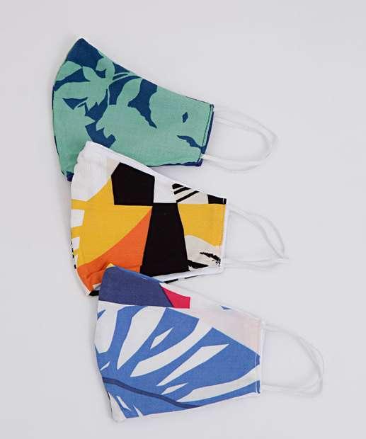 Image_Kit 3 Máscaras Proteção Feminina Estampadas
