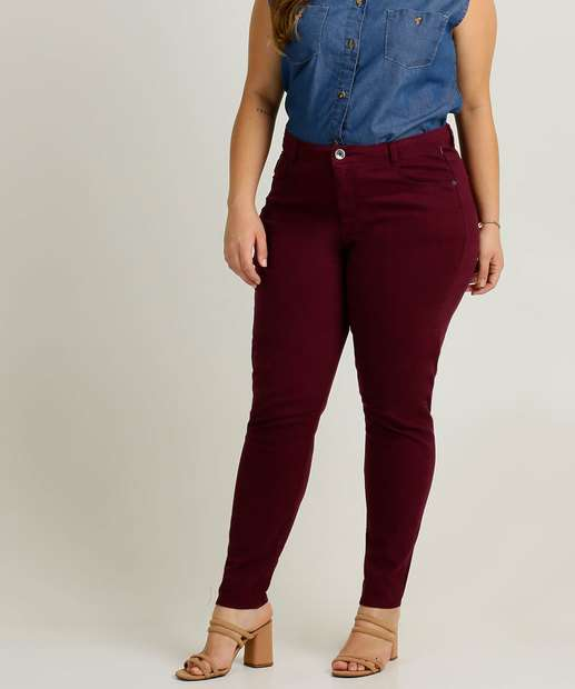 Image_Calça Plus Size Feminina Sarja Skinny Marisa
