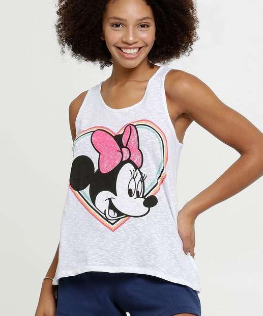 Image_Blusa Feminina Flamê Estampa Minnie Sem Manga Disney