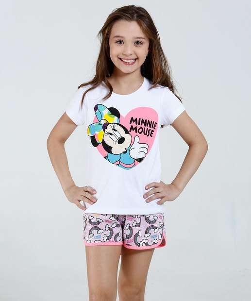 Image_Pijama Infantil Manga Curta Minnie Disney