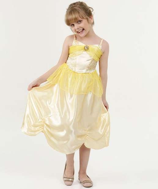 Image_Vestido Infantil Princesa Bela Alças Finas Disney