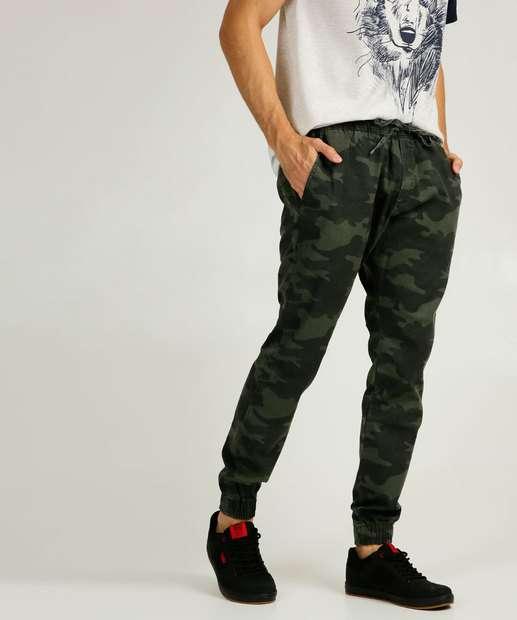 Image_Calça Masculina Camuflada Jogger Zune Jeans