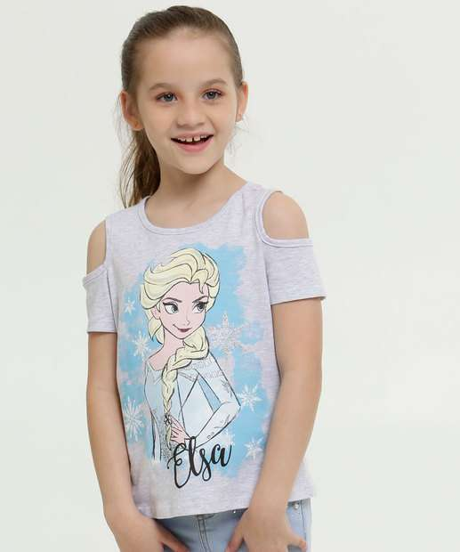 Image_Blusa Infantil Open Shoulder Frozen Manga Curta Disney