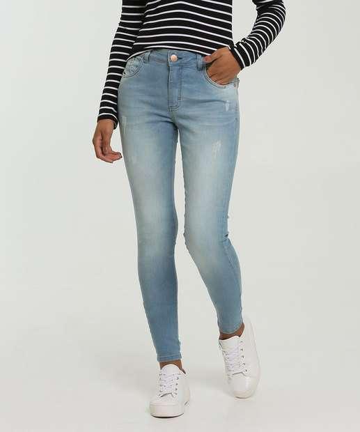 Image_Calça Skinny Puídos Feminina Zune Jeans By Sabrina Sato