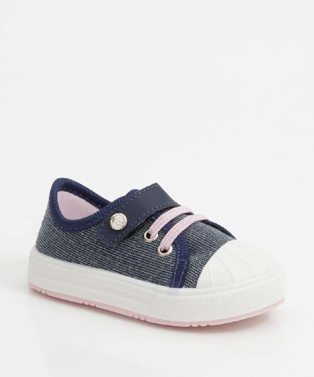 Tênis Infantil Casual Jeans Velcro Pimpolho
