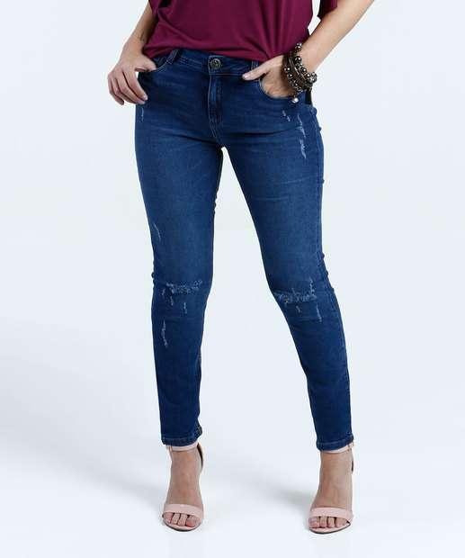 Image_Calça Feminina Jeans Puídos Skinny Marisa