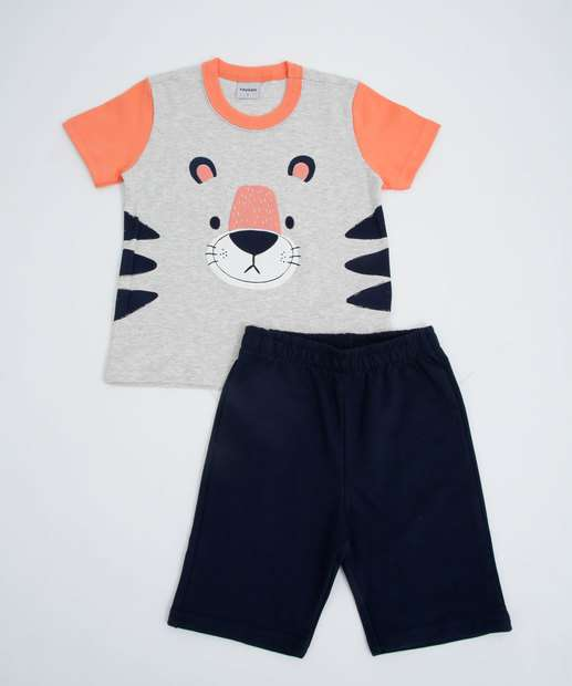 Image_Conjunto Infantil Manga Curta Tigre Tam 1 a 3