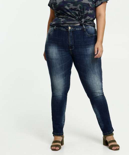 Image_Calça Feminina Jeans Cigarrete Plus Size Sawary