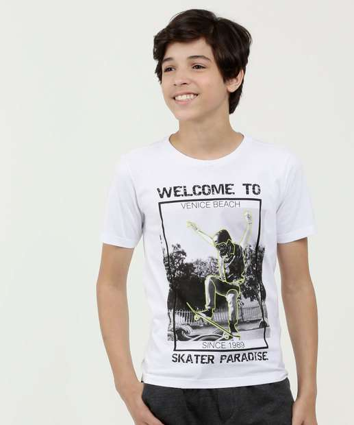 Image_Camiseta Juvenil Estampa Skate Manga Curta MR