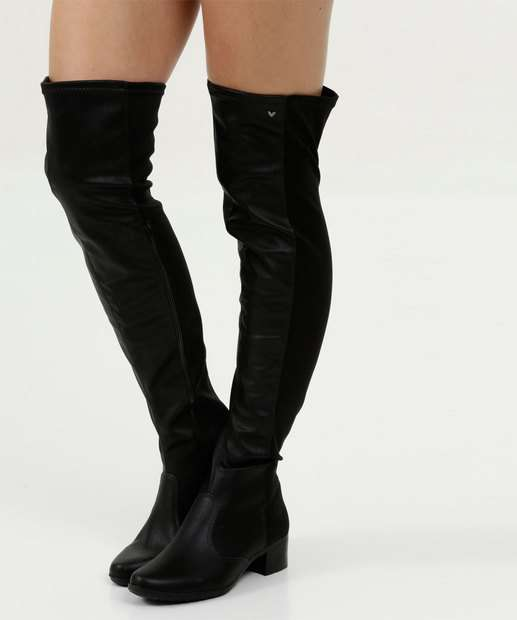 c869190f3e Bota Feminina Over The Knee Salto Grosso Mississipi