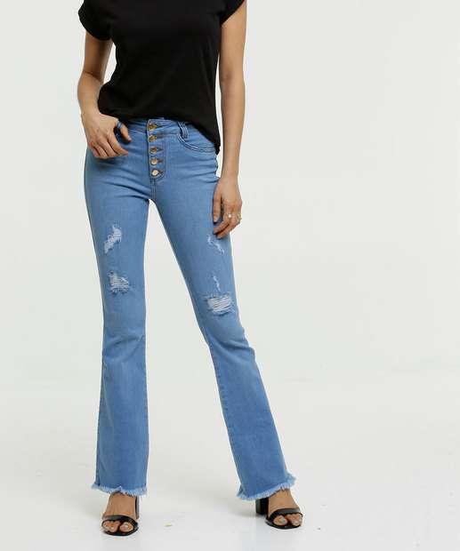 Image_Calça Jeans Destroyed Flare Feminina