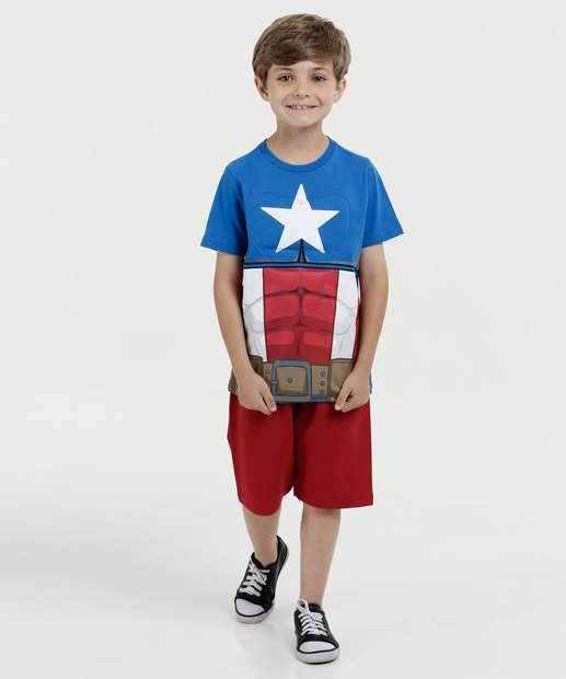 Image_Conjunto Infantil Estampa Capitão America Manga Curta Marvel