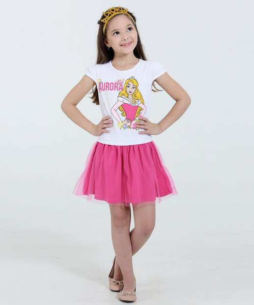 Image_Vestido Infantil Estampa Aurora Tiara Disney