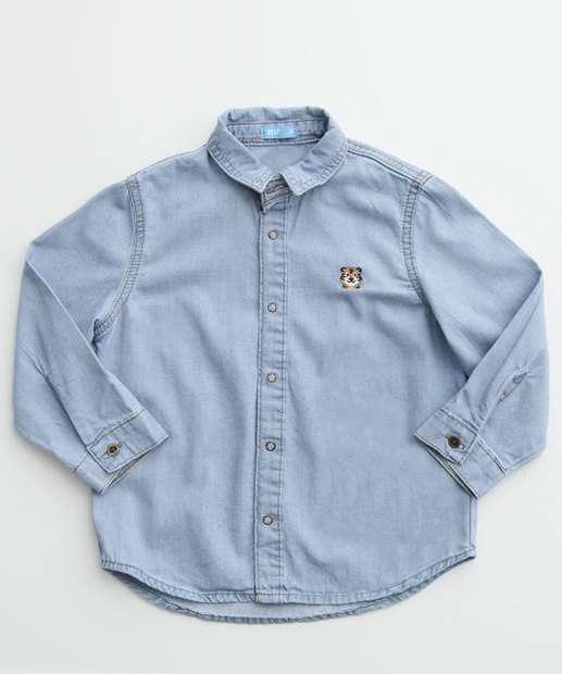 Image_Camisa Infantil Jeans Bordado Manga Longa MR