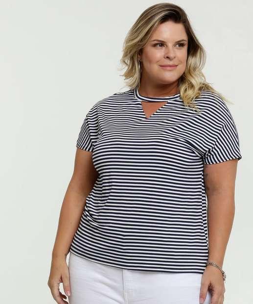 Image_Blusa Feminina Choker Listrada Plus Size Marisa
