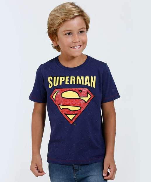 Image_Camiseta Infantil Manga Curta Super Homem Liga da Justiça