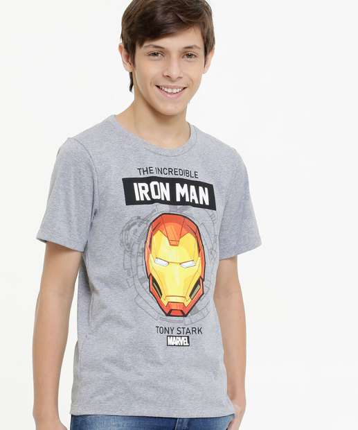 Image_Camiseta Juvenil Manga Curta Homem de Ferro Marvel Tam 10 a 16