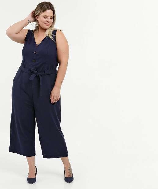 Image_Macacão Feminino Pantacourt Linho Plus Size Marisa
